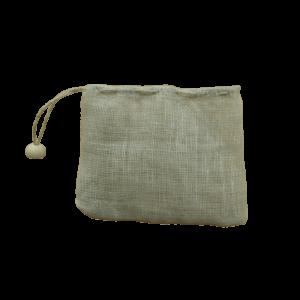 filtre à thé en lin biologique réutilisable