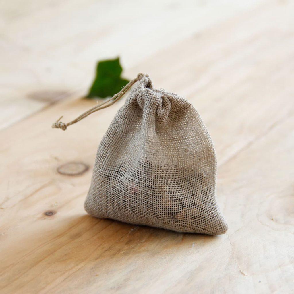 sachet à thé en voile de lin biologique