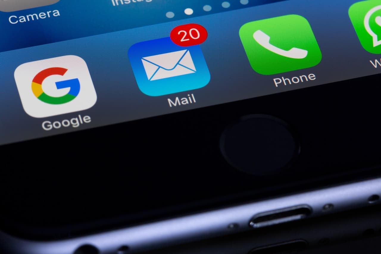 Icônes email smartphone