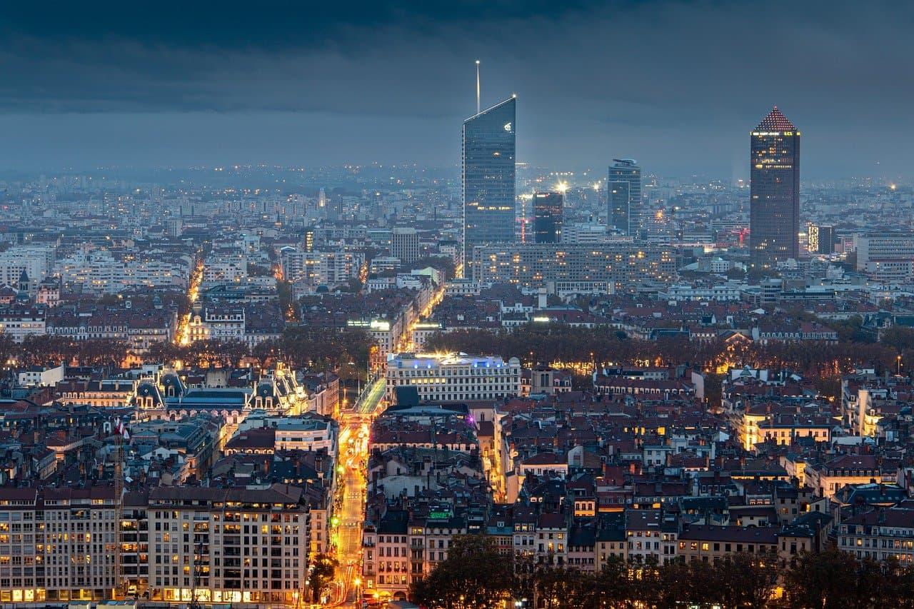 Ville de Lyon en France